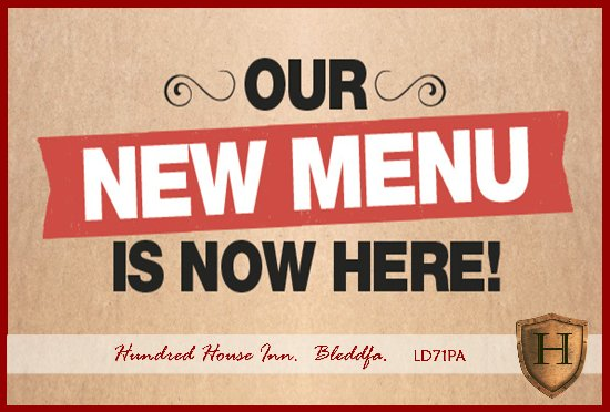 Bleddfa, UK: Come and try our NEW Autumn 2017 menu