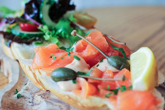 Longton, UK: Smoked Salmon open sandwich, perfect for lunch with the ladies.