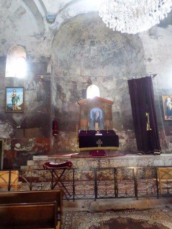 Mastara, أرمينيا: L'altare e parte della cupola