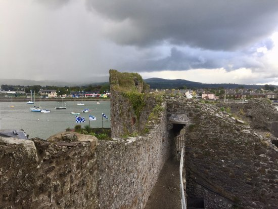 Dungarvan, Irlanda: View from the tower onto the harbor.