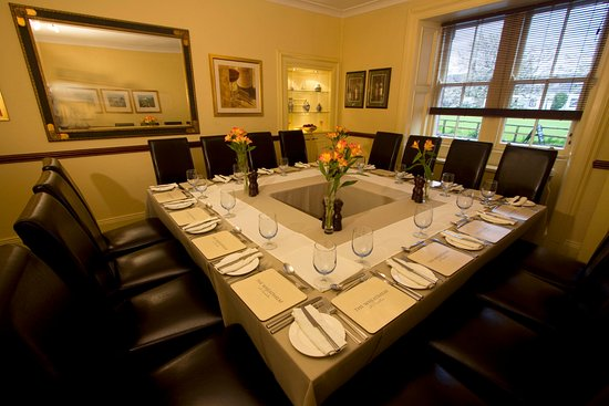 Swinton, UK: Dining Room, set for a private party of 16