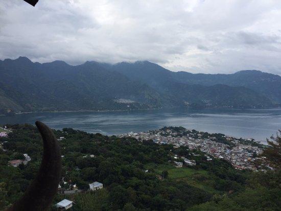 Lake Atitlan, Guatemala: View from Mirador Plaza Maravilla (San Pedro)
