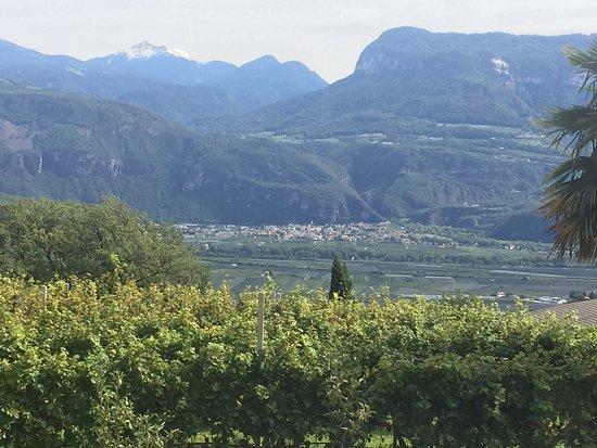 Termeno, Italy: Vista panoramica fantastica in tutte le stagioni