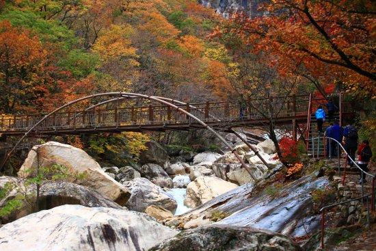 Dandong, จีน: Beautiful Mountain Kumgang in end of Oct