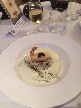 Blere, France: excellent repas au cheval blanc