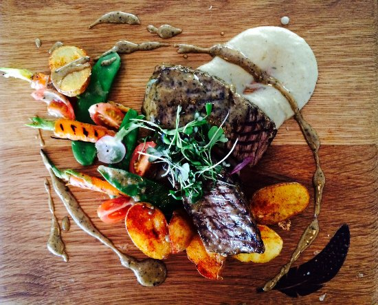 Scarborough, Afrika Selatan: Fillet Steak with mushroom & red wine cream