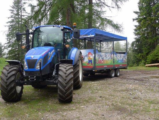 Kinderhotel Lärchenhof: Traktorfahrten auf die Alm