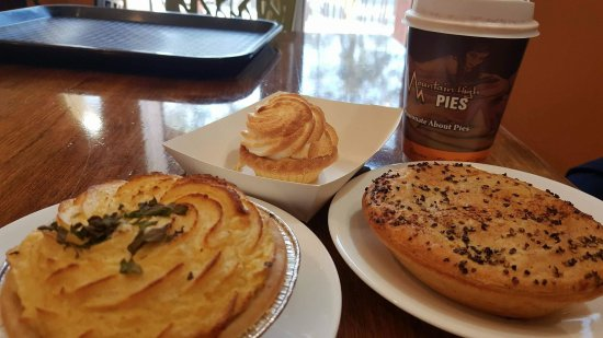 Wentworth Falls, Australia: Chicken and Mushroom, and Steak and Pepper pies