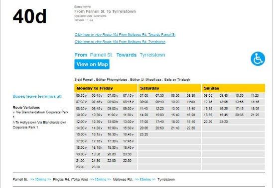 Tyrrelstown, Ireland: orari bus verso dal centro
