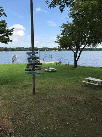 Essex, MD: view from the deck at Island View Waterfront Cafe