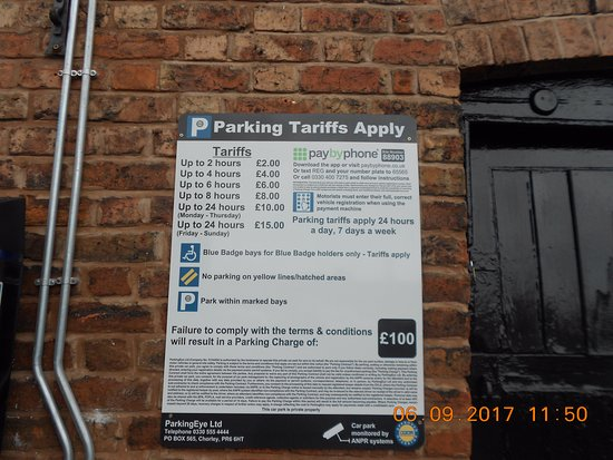 Chester Car Parking Charges