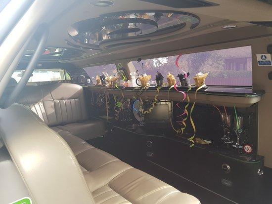 Long Eaton, UK: Inside the limousine - amazing