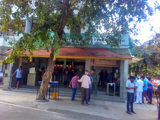 Brahmin's Coffee Bar: Brahmin Cafe- Tables arranged outside -12-09-2017