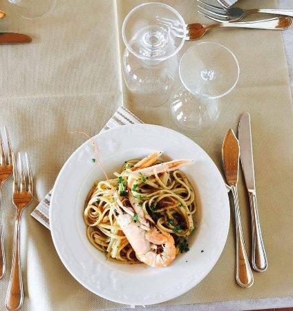Alyce Restaurant: Linguina scampi e bottarga
