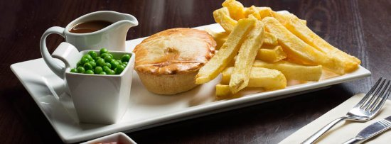 Pie and Chips  at Daniels Fish and Chips Highcliffe