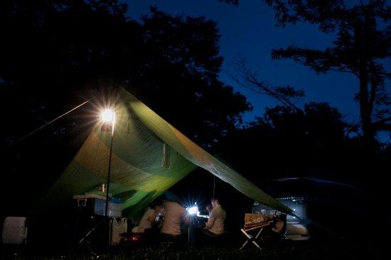 Togakushi Camping Area : フリーサイトでも夜は静かです。