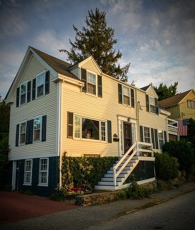 Marblehead, MA: Morning sunlight on Harborside House