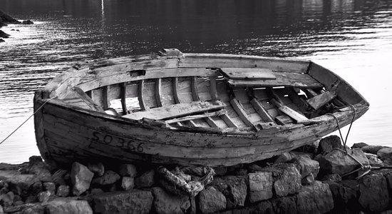 Sipanska Luka, Hrvatska: Boat on the harbour