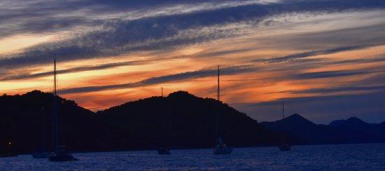 Sipanska Luka, Croatia: Sunset Over Harbour