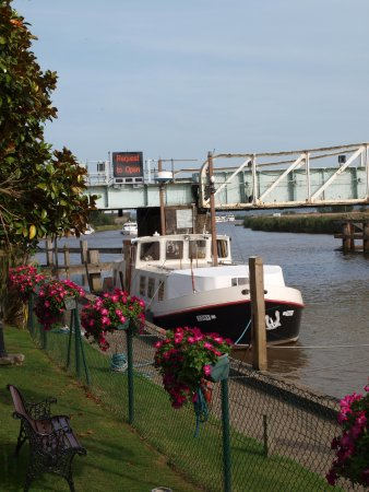 Reedham, UK: Watch for trains or boats from the garden
