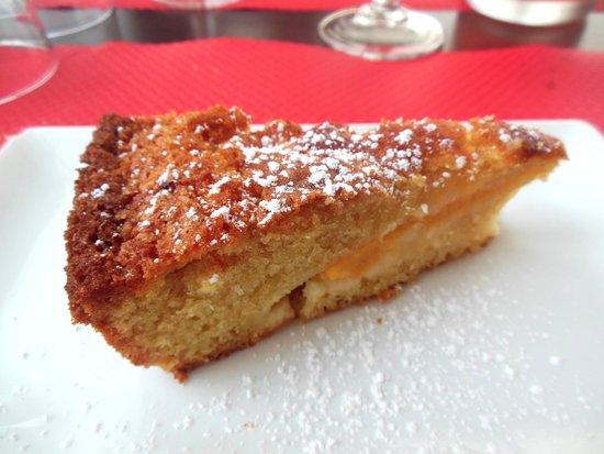 Villandraut, ฝรั่งเศส: Dessert du menu du jour