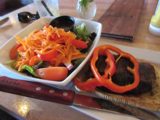 Fort Frances, Canadá: Steak sandwich and salad