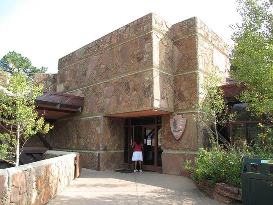 Beaver Meadows Visitor Center: Main building. Restrooms are located to the left.