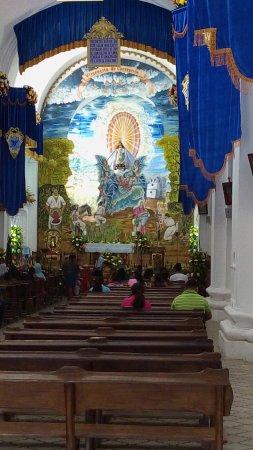 Interior iglesia de la Inmaculada Concepción Ciudad Vieja, la primera catedral de Guatemala 1534