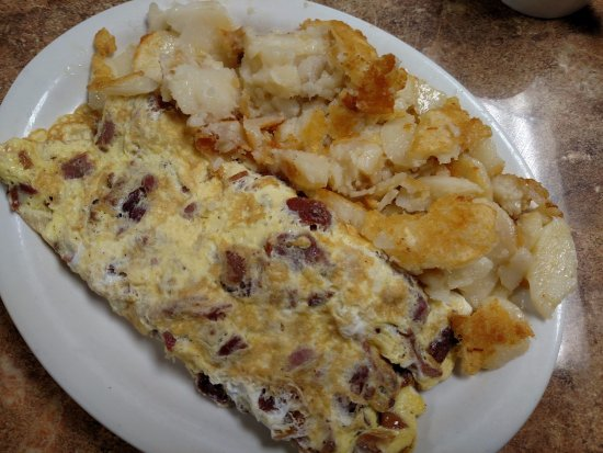 Gap, Pennsylvanie : Bacon and cheese omelette with home fries