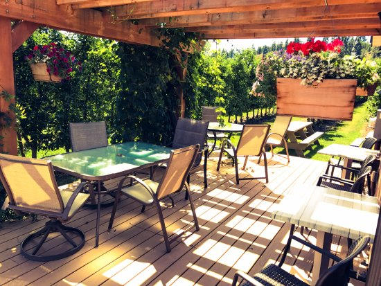 Summerland, Canada: Bring a picnic lunch to our patio