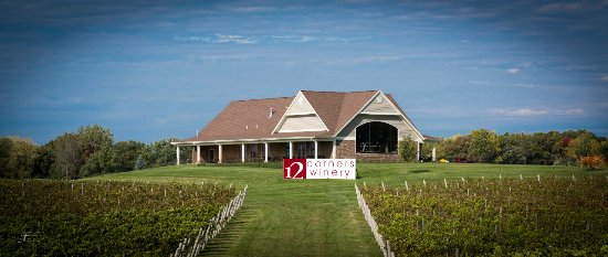 Benton Harbor, MI: Vineyard view of the building.