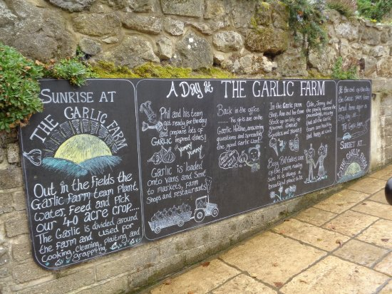 Newchurch, UK : Garlic Farm notice board