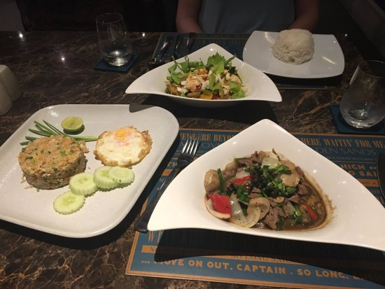 Laem Set, Thailand: Our three dishes, all were delicious!