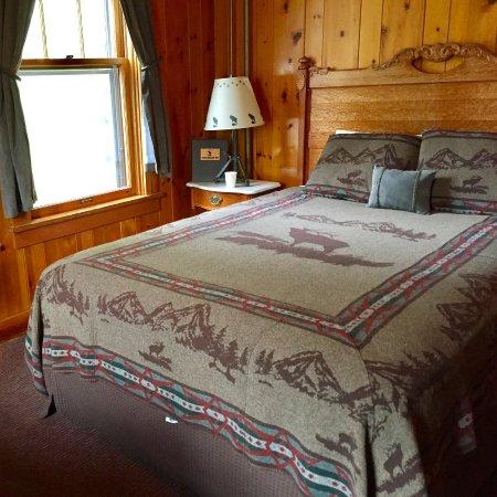 Essex, MT: Izaak Walton Inn - Ground Floor Room 3 - Great Northern Room - End room with two windows Tracksi