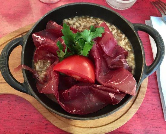 Casa d'Urso : Risotto crème de truffe et bresaola : un délice !