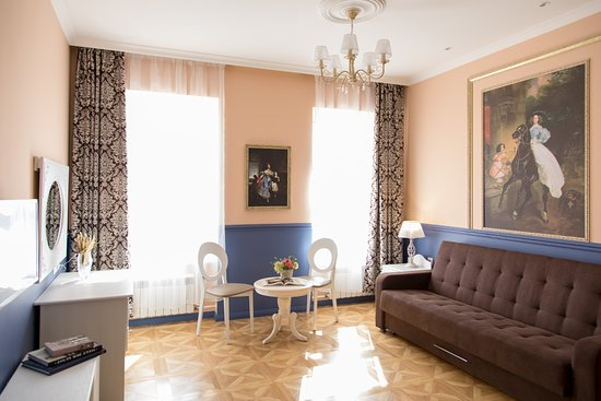 Hotel Grifon: Deluxe apartments in classical style with one bedroom and fireplace