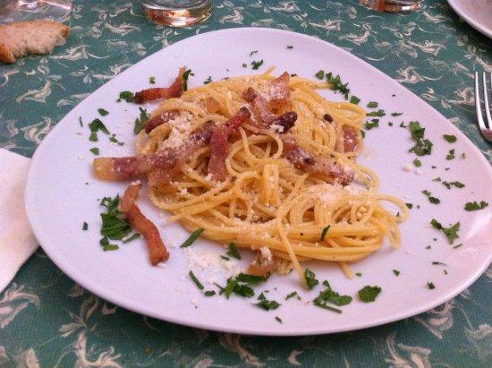 Acquasparta, Италия: Spaghetti alla gricia