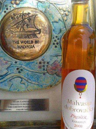 Konavle, Κροατία: Award winning sweet dessert Winery Prošek with Gold Medal.
