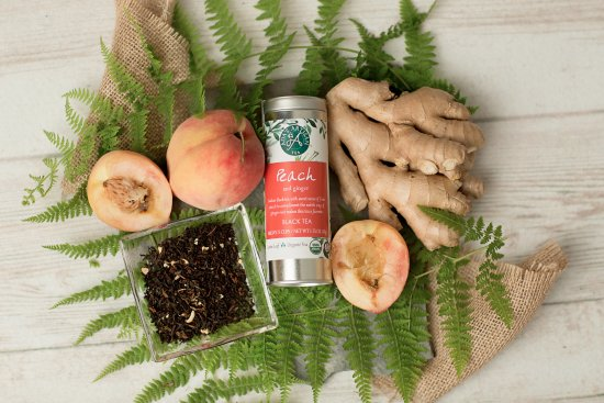 Ballston Spa, Nova York: Peach & Ginger, Certified Organic Tea