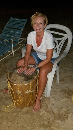 learning to drum in Hopkins Belize at Lebeha Drumming Center