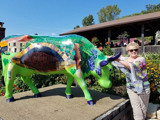Prairie du Sac, WI: Winery themed cow-
