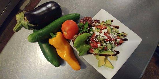 Weston, MO: Locally sourced cucumber salad special