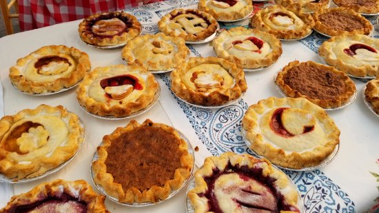Fresh homemade pies at the Columbia Falls Community Market