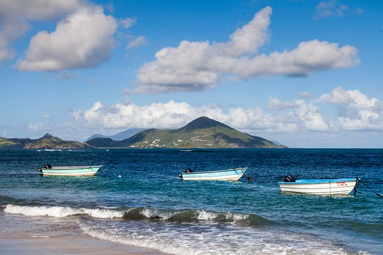 Nevis beach view to St. Kitts