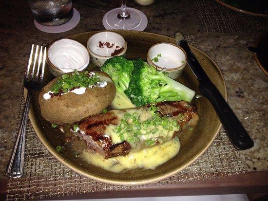 House Without a Key: 10oz Strip loin steak (rare)