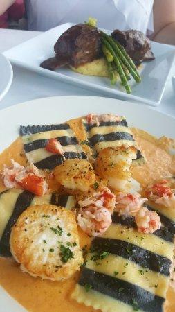 Hamburg, NY: Lobster ravioli & braised ribs