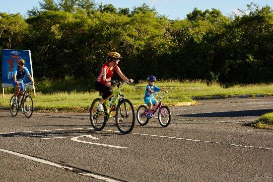 Nevis Triathlon's youngest competitor