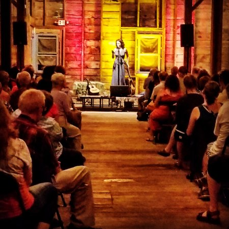 Pittsfield, MA: Sarah Lee Guthrie in the barn, Summer 2017
