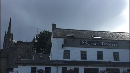 Mosset Tavern: looking at it from the pond and to see the church aswell