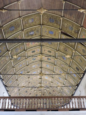 Musee Hospice Comtesse : The chapel ceiling